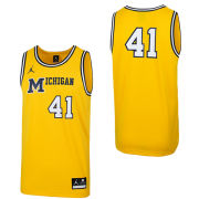 1bcf2718164 Jordan University of Michigan Basketball Maize 1989 Throwback Replica Jersey