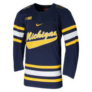 Nike University of Michigan Hockey Navy Replica Script ''Michigan'' Jersey