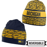 Nike University of Michigan Reversible Local Knit Beanie Hat
