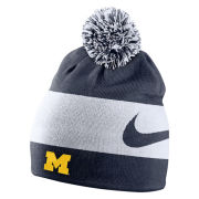 Nike University of Michigan Collegiate Striped Reversible Knit Beanie Hat