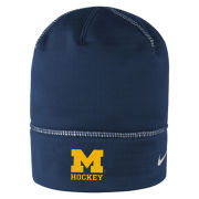 Nike University of Michigan Hockey Navy Championship Drive Knit Beanie Hat