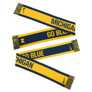 Nike University of Michigan Reversible ''Go Blue'' Knit Scarf