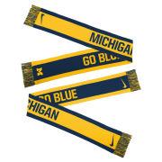 Nike University of Michigan Reversible ''Go Blue'' Knit Scarf