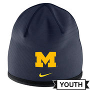 Nike University of Michigan Football Youth Sideline Training Knit Beanie Hat
