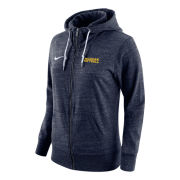 Nike University of Michigan Softball Women's Vintage Heather Navy Full Zip Hooded Sweatshirt