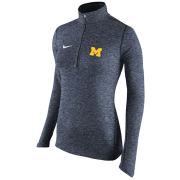 Nike University of Michigan Women's Heather Navy Dri-FIT Element 1/2 Zip Pullover Top