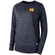 Nike University of Michigan Women's Heather Navy Gym Vintage Crewneck Sweatshirt