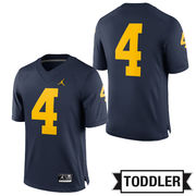 Jordan University of Michigan Football Toddler Navy #4 Game Jersey