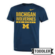Nike University of Michigan Toddler Navy Dri-FIT Legend Tee