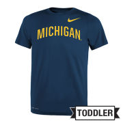 Nike University of Michigan Toddler Navy Dri-FIT Legend Tee<br>[Sizes 5T-7T]