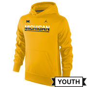 Jordan University of Michigan Football Youth Yellow Staff Sideline Hooded Sweatshirt
