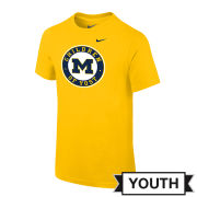 Nike University of Michigan Hockey Youth Yellow ''Children of Yost'' Tee