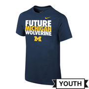 Nike University of Michigan Youth Navy Future Wolverine Tee