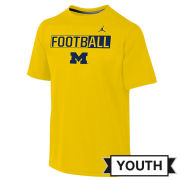 Jordan University of Michigan Football Yellow FootbALL Tee