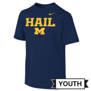 Nike University of Michigan Youth Navy Dri-FIT Legend HAIL Tee