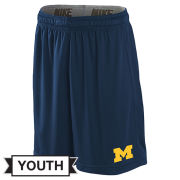 Nike University of Michigan Youth Navy Dri-FIT Fly Shorts