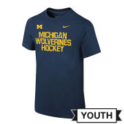 Nike University of Michigan Hockey Youth Navy ''Shatter'' Tee