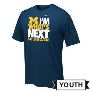 Nike University of Michigan Youth Navy ''I'm What's Next'' Dri-FIT Legend Tee