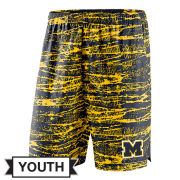 Nike University of Michigan Youth Navy/Yellow Shield Performance Shorts