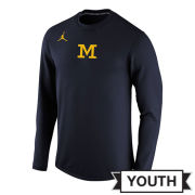 Jordan University of Michigan Football 2017 Youth Navy Head Coaches Modern Crewneck Sweatshirt