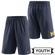 Nike University of Michigan Youth Navy FLY XL 5.0 Dri-FIT Shorts