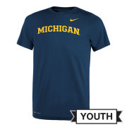 Nike University of Michigan Youth Navy Basic Dri-FIT Legend Tee