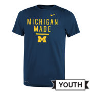 Nike University of Michigan Youth Navy ''Michigan Made'' Dri-FIT Legend Tee