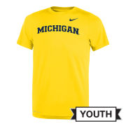 Nike University of Michigan Youth Maize Basic Dri-FIT Legend Tee