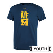 Nike University of Michigan Youth Navy ''Recruit Me'' Dri-FIT Legend Tee