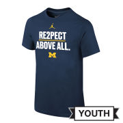 Jordan University of Michigan Football Youth ''RE2PECT ABOVE ALL'' Tee
