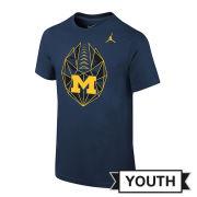 Jordan University of Michigan Football Youth Navy Icon Tee