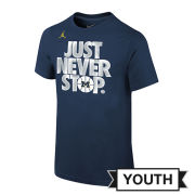 Jordan University of Michigan Basketball Youth ''Just Never Stop'' Selection Sunday Tee