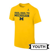 Jordan University of Michigan Youth Maize ''Mantra'' Tee