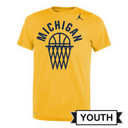 Jordan University of Michigan Basketball Youth Maize ''Net'' Dri-FIT Legend Tee