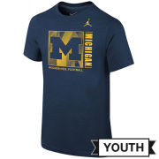 Jordan University of Michigan Football Youth Navy Facility Tee