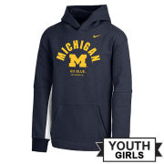 Nike University of Michigan Youth Girls Navy/Gray Hooded Sweatshirt