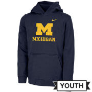 Nike University of Michigan Youth Navy Hooded Sweatshirt