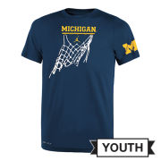 Jordan University of Michigan Basketball Youth Navy Dri-FIT Legend Icon Tee