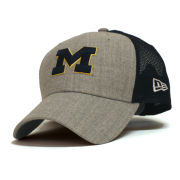 New Era University of Michigan 9Forty Heathered Turn Meshback Snapback Hat