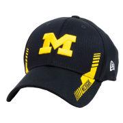 New Era University of Michigan Navy Sideline Takedown Structured Snapback Hat