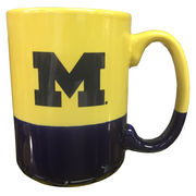 Neil University of Michigan Split Color Coffee Mug