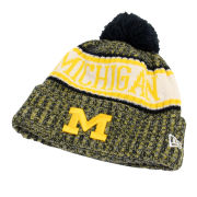 New Era University of Michigan Sport Cuffed Knit Hat with Pom