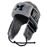 New Era University of Michigan Gray Frosty Trapper Knit Hat