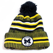 New Era University of Michigan Navy Sideline Home Cuffed Knit Hat
