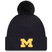 New Era University of Michigan Navy ''Breeze'' Cuffed Pom Knit Hat
