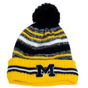 New Era University of Michigan Cold Weather Sport Cuffed Pom Knit Hat