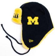 New Era University of Michigan Navy/Yellow Trapper Knit Hat