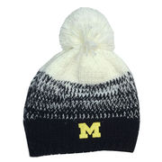 New Era University of Michigan Ladies Navy Polar Duster Knit Hat with Pom