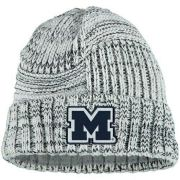 New Era University of Michigan Women's White Sideline Cuffed Knit Hat
