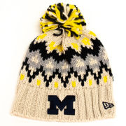 New Era University of Michigan Women's Frost Pom Knit Hat